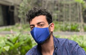 fabric mask manufacturer plain mask blue colour